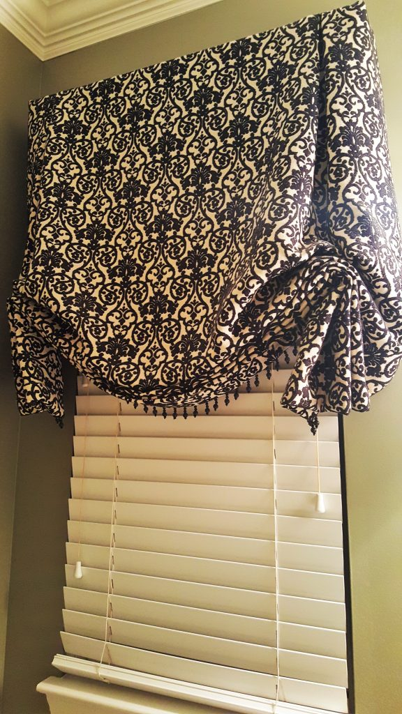 Stylish Black & White Valance