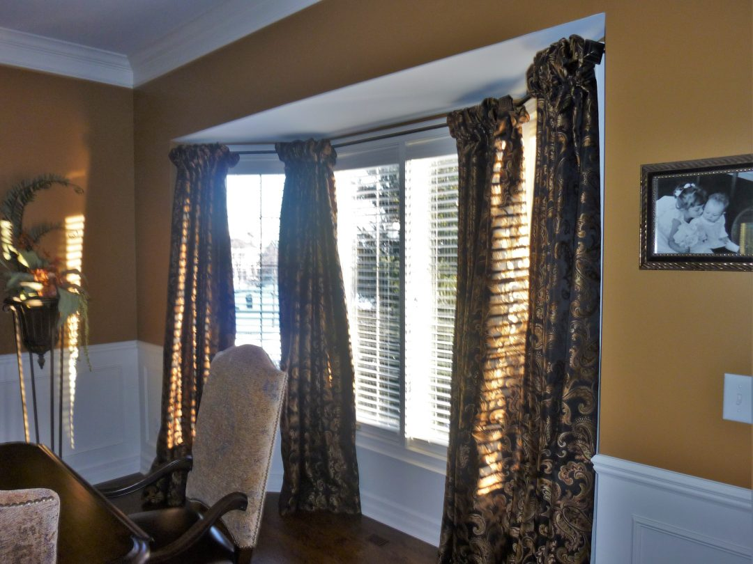 Beautiful Dining Room Window Draperies