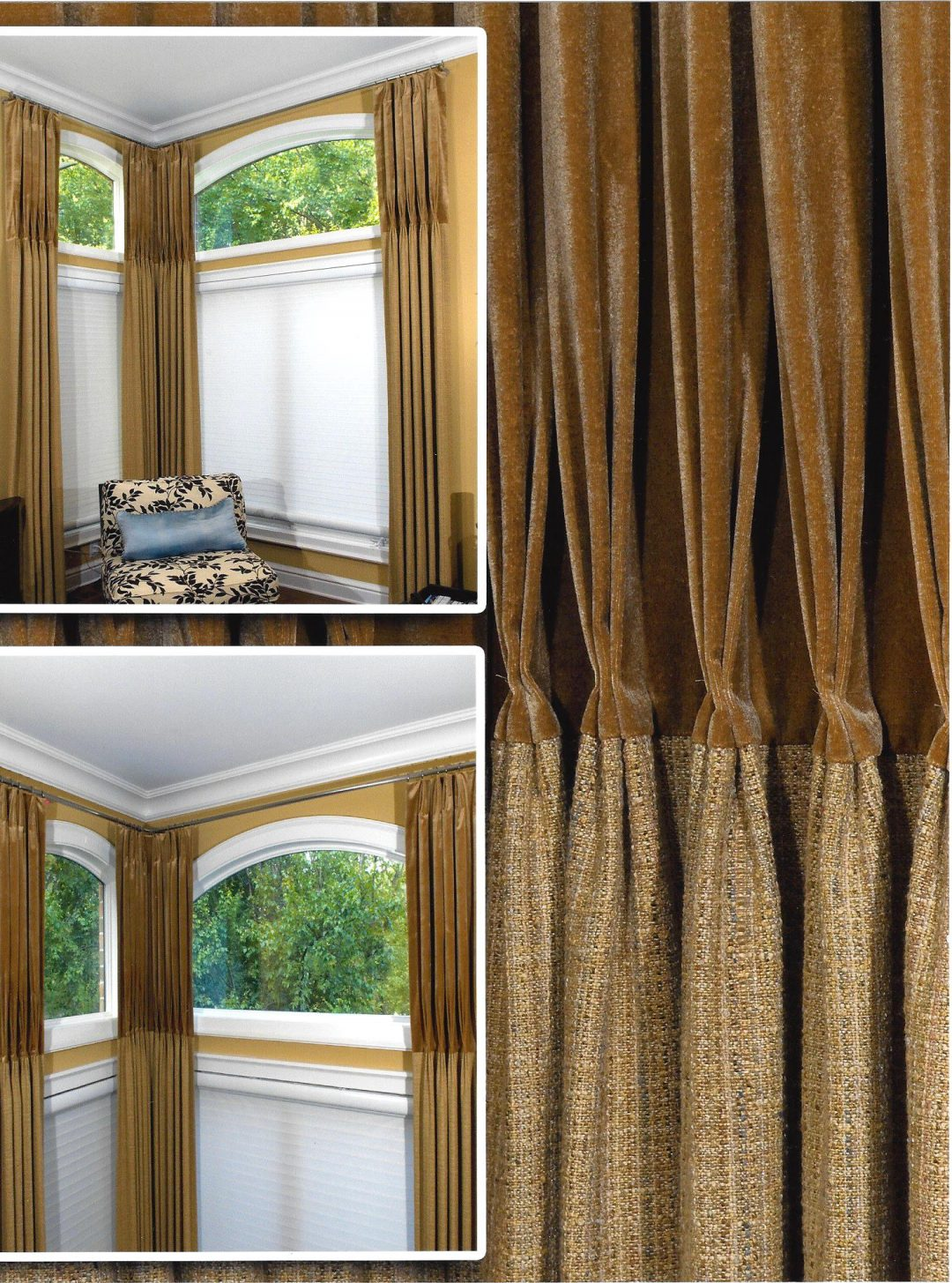 Stylish Corner Window Treatment Maple Grove Designs