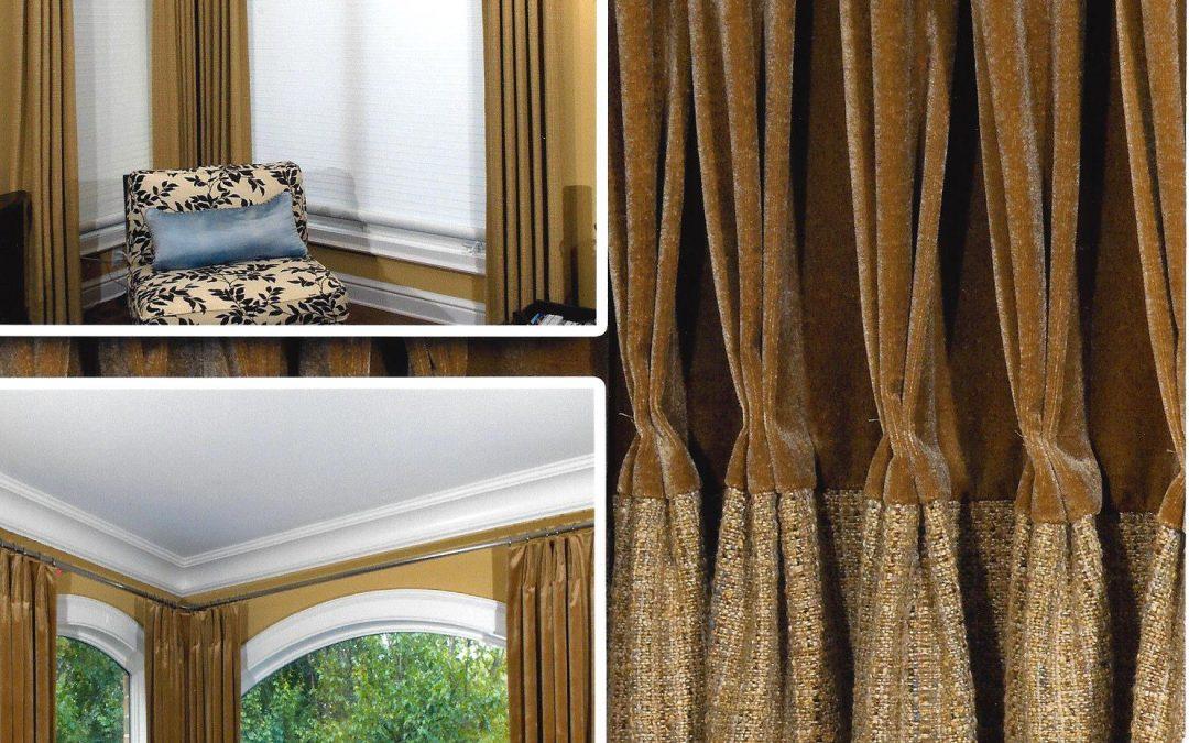 Stylish Corner Window Treatment